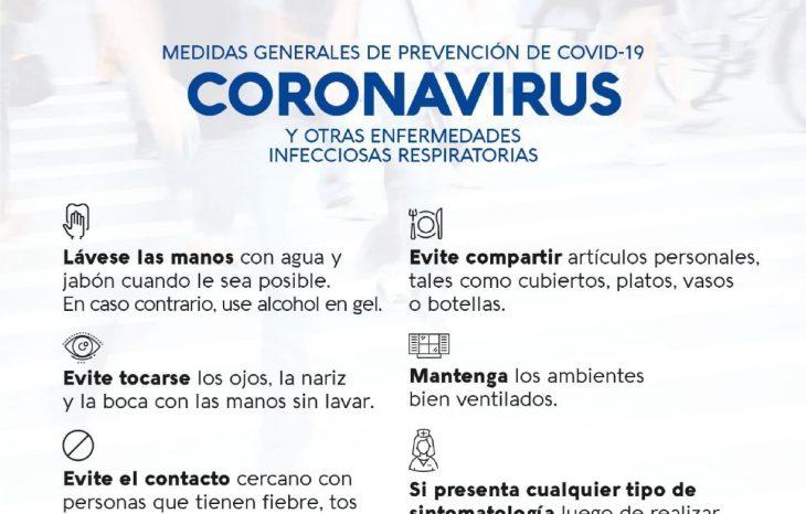 Medidas generales de prevención COVID-19